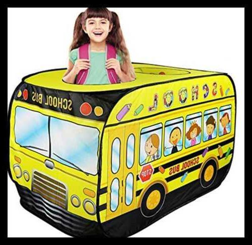 school bus yellow pop play