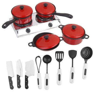 Set Kitchen Cooking Food Play Toy