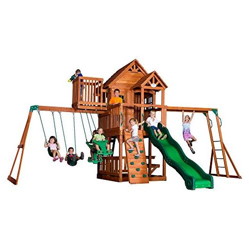 skyfort ii cedar wood swing