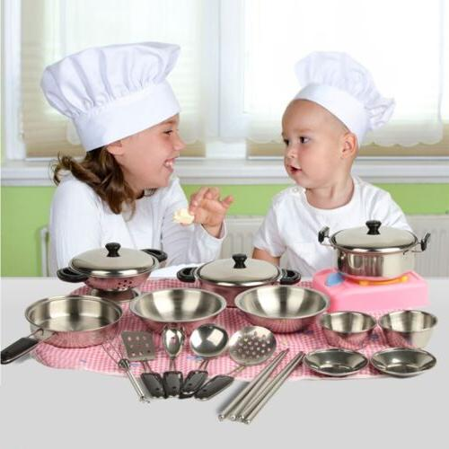 20Pcs Pans Pretend Kid