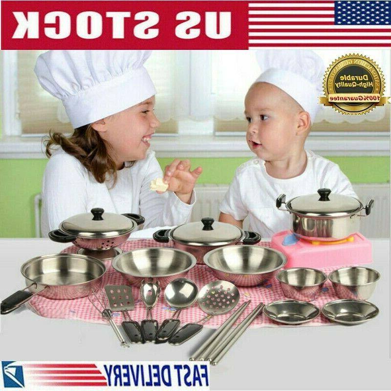 stainless steel pots pans cookware