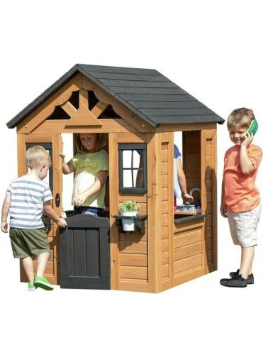 sweetwater all cedar wooden playhouse