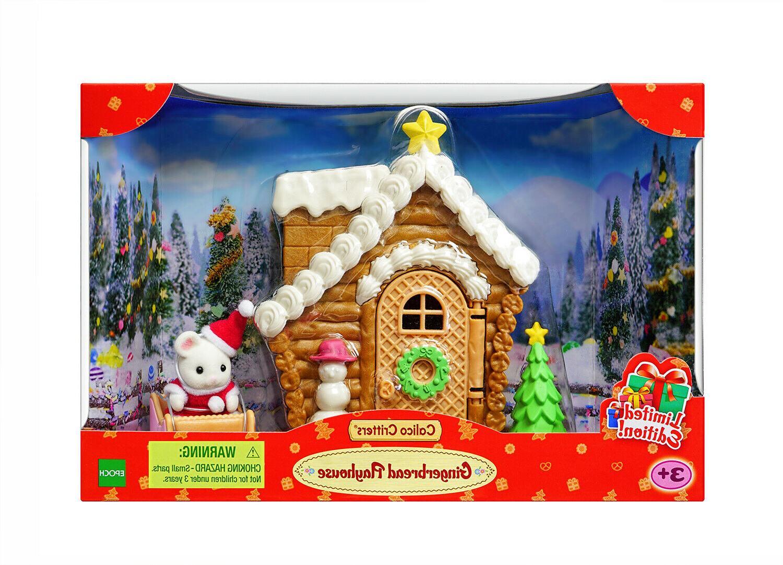 sylvanian families santa gingerbread playhouse christmas set