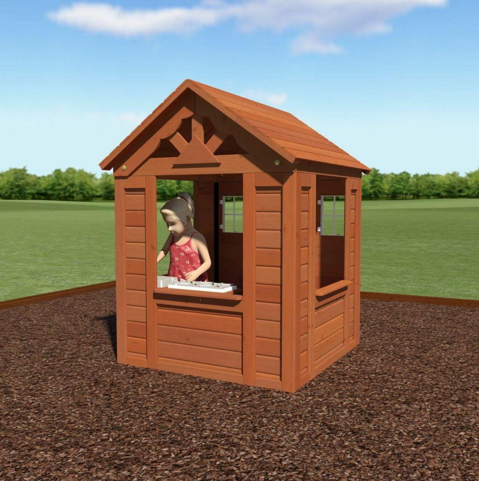 Backyard Discovery Timberlake Cedar Wooden Kids Playhouse ...