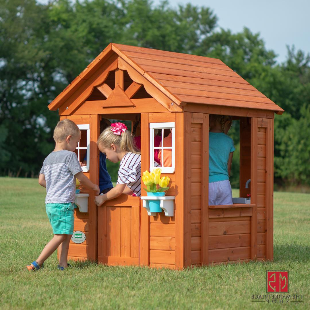 Wooden Play House Backyard Discovery Timberlake Cedar Kids C