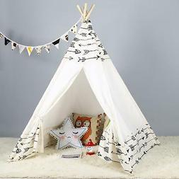 Large Canvas Children Indian Tent Teepee Kids Wigwam Indoor