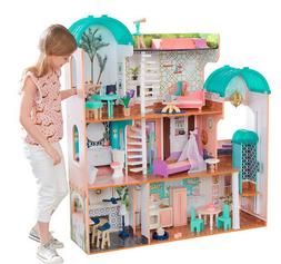 "KidKraft Mansion Dollhouse 4 Level Doll House 4' fits 12"" Do"