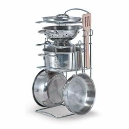 Melissa & Doug 4265 Let's Play House! Stainless Steel Pots