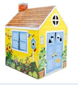 Melissa & Doug Country Cottage Indoor Corrugate Playhouse