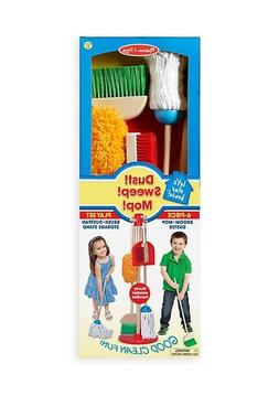 Melissa & Doug Let's Play House! Dust! Sweep! Mop! 6-Piece W