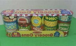 "MELISSA & DOUG ""LET'S PLAY HOUSE"" GROCERY CANS 10PC. STACKAB"
