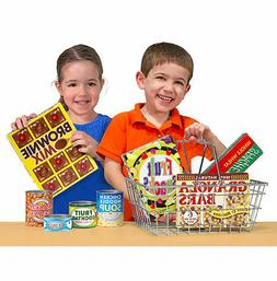 Melissa & Doug Let's Play House Grocery Basket with Play Foo