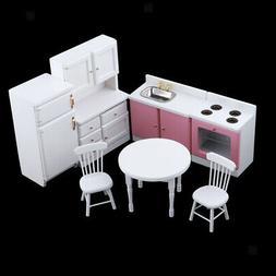 Miniature Wooden Kitchen Set Items for 1/12 Dollhouse Kids P