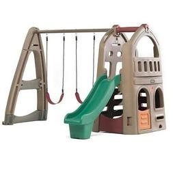 naturally playful playhouse climber swing