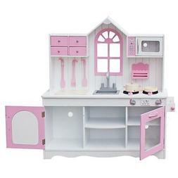 New Children's Gift Wooden Toys Kitchen Simulation Kitchen C