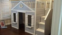 NEW Cottage House Loft Playhouse Bed--Custom Made!