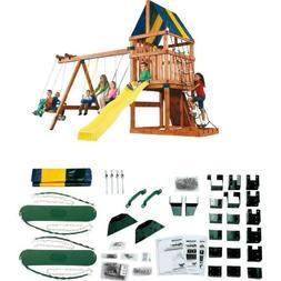 Outdoor Backyard Play Set Custom Kids Swing Slide Playhouse