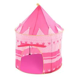 Pink Crown Tent Princess Castle Toddler Play House Outdoor I