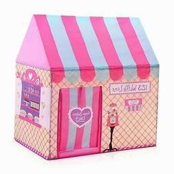 Pink Princess Castle Play House Large Indoor/Outdoor Kid Pla