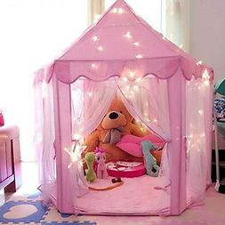 Pink Tent Princess House Castle Girls Playhouse Kids In/Outd