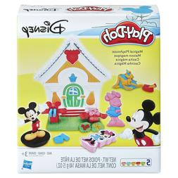 Play-Doh Disney Mickey Mouse Magical Playhouse Set with 5 Ca