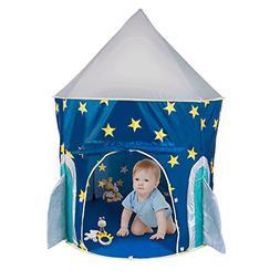 PEPECO Children Play Tent Kids Rocket Ship Indoor Playhouse
