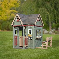 Playhouse For Kids Outdoor Wooden Cottage Victorian Inn Natu