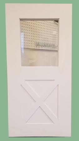 "Playhouse Door, Treehouse Door 24"" x 48"" Barn Style with Win"
