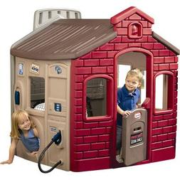 Children Playhouse Plastic Kids Outdoor Garden Backyard Cott