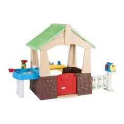 Children Playhouse Plastic Kids Outdoor Garden Backyard Log