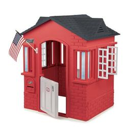 Children Playhouse Plastic Kids Outdoor Garden Log Cabin For