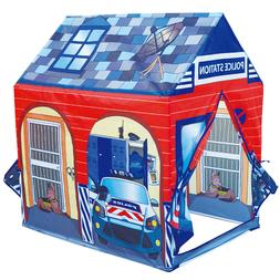 Police Station Play Tent Kids Pretend Super Hero Playhouse C