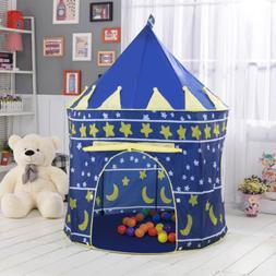 Portable Prince Boys Castle Pop Up Kids Children Play House