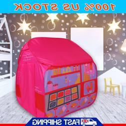 Princess Castle Kids Pop Up Play Tent Girl Play House Portab