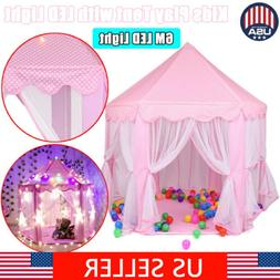Princess Castle Play House In/Outdoor Kids Play Tent for Gir