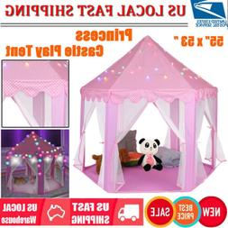 Princess Castle Play House Large In/Outdoor Kids Play Tent &