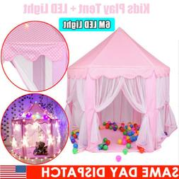 Princess Castle Playhouse Large In/Outdoor Kids Girl Pink Pl