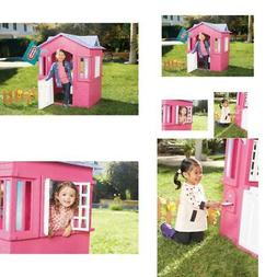 Little Tikes Princess Cottage Playhouse Pink Outdoor Play Ho