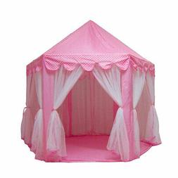 Safe Castle Play House Princess Pink Tent Kids Room Decor Gi