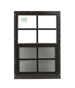 """Shed Window 12"""" x 18"""" Brown Flush SAFETY /TEMPERED GLASS Pla"""