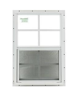 """Shed Window 12"""" x 18"""" White J-Channel SAFETY /TEMPERED GLASS"""