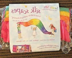 Silk Scapes Rainbow Sarahs Silks Huge 9'x3' Canopy Fort