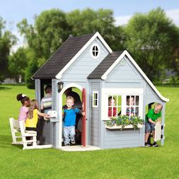 Backyard Discovery Spring Cottage Cedar Playhouse w/ Bench,