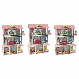 KidKraft Sweet Savannah Wooden Pretend Play Dollhouse with F