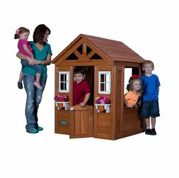 Backyard Discovery Timberlake Cedar Wooden Kids Playhouse, O