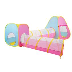GOJOOASIS 4pcs Baby Tunnel and Tent Pop Up Kids Play Tent w/