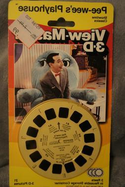 Vintage Pee-Wee's Playhouse View-Master 3-D reels on origina