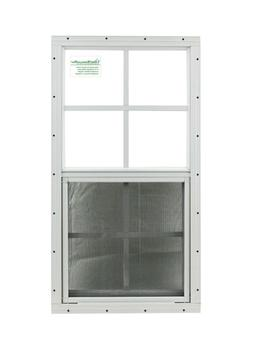Shed Window 14 X 27 White J-channel SAFETY/TEMPERED GLASS Pl
