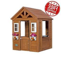 wooden play house timberlake cedar kids cottage