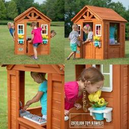 Wooden Playhouse for Kids Outdoor Backyard Timberlake Simple